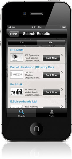 mylocalsalon for iPhone screenshot